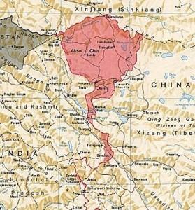 KINA I INDIJA - SILE 21. VEKA- Aksai-Chin