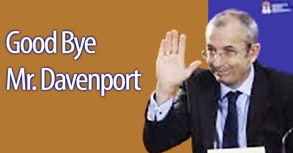 GOOD BYE MR. DAVENPORT